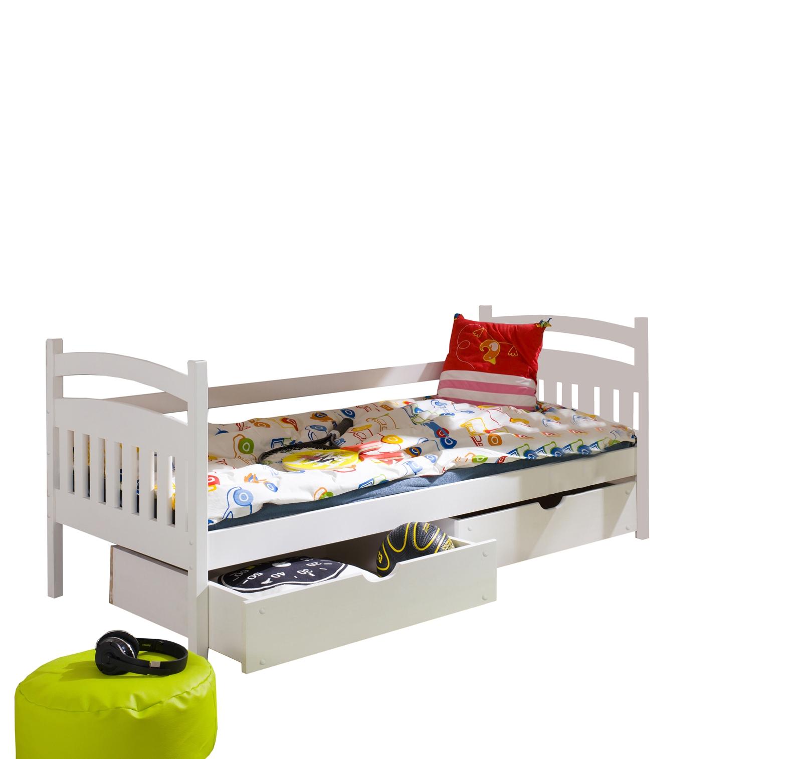 ad51169795a5 Dřevěná postel L-Karolum 190 x 90 cm s úložným prostorem
